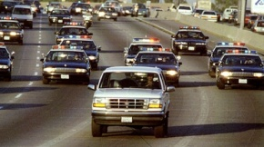 White Ford Bronco Chase